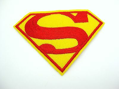 Superman Embroidered Patch Iron On Applique Sewing 8.3 x 6cm