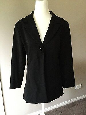 Ninth moon lined black maternity jacket size 8