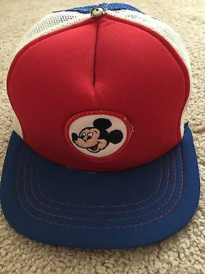 Vintage 1980 Mickey Mouse Hat SnapBack Baseball Cap Walt Disney Production Rare