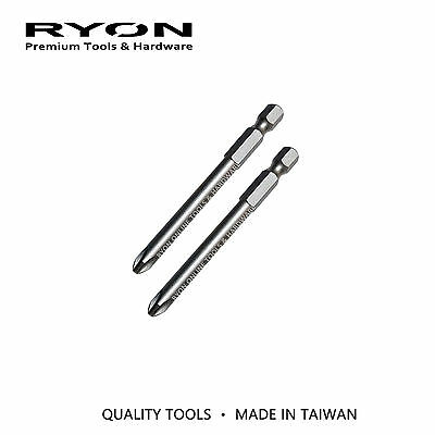 75mm Power Magnetic Phillips #2 PH2 Screwdriver Bit Quality S2 Alloy Taiwan Made