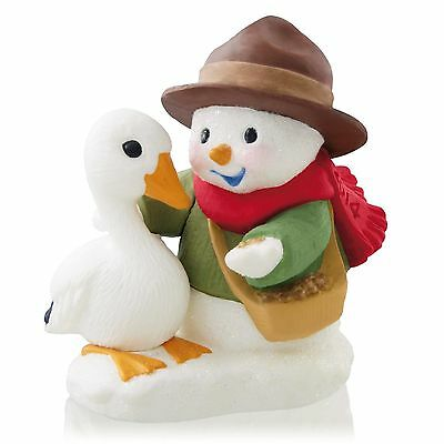 SNOW BUDDIES 2014 Hallmark Ornament -  #17 In Series - Snowman and Goose