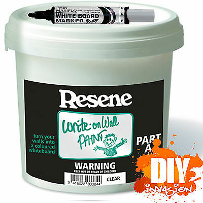 Resene Write on Wall Dry Erase Paint with Free Pentel White Board Maxiflo Maker