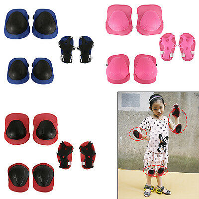 6Pcs Kids Roller Skate Skating Cycling Knee Elbow Wrist Protective Gear Pads Set