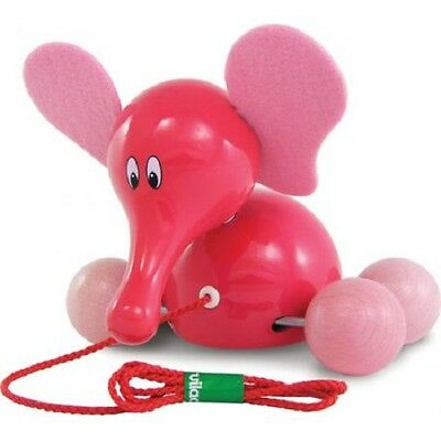 NEW Fanfan The Elephant Pull-Along Wooden Toy -For Developing Early Motor Skills