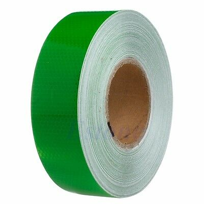 50M Green Warning Reflective Safety Tape Roll Adhesive Sticker For Trucks Car