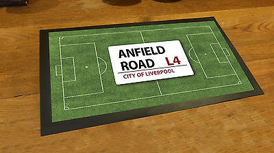 Anfield Liverpool football pitch Bar runner Beer mat Pubs and Clubs