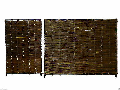 Natural wicker fencing panels pack of 4 (2 Large & 2 small panel per pack)