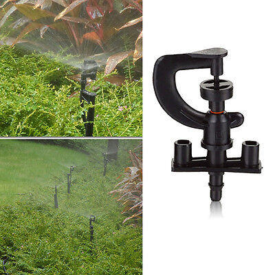 50pcs Yard Garden Lawn Irrigation 360° Rotation Water Sprinkler Head Plastic A