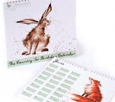 Wrendale Designs Country Set Perpetual birthday Calendar  NEW Hare
