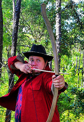 TAKEDOWN Viking Hunting Longbow with Wood Grain pattern (60lbs)