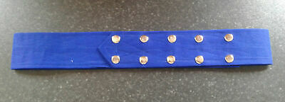 Sikh Nihang Singh Khalsa Adjustable Belt Kamarkasa without Loop Blue Waist Belt