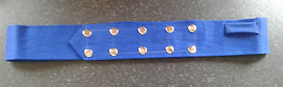 Sikh Nihang Singh Khalsa Adjustable Belt Kamarkasa Loop Royal Blue Waist Belt