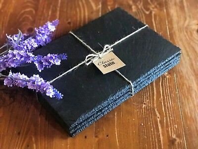 Handmade Natural Slate Placemats & Coasters - Table Place Mats Platters Dinner