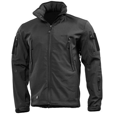 bc0b42d322c Pentagon Artaxes Army Tactical Softshell Mens Urban Jacket Water Resistant  Black
