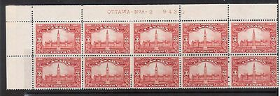 Canada #143 NH Mint Plate #2 UL Block Of Ten
