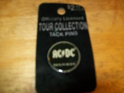 Vintage Tour Collection 'ac/dc Back In Black' Tack Pins Officially Licensed