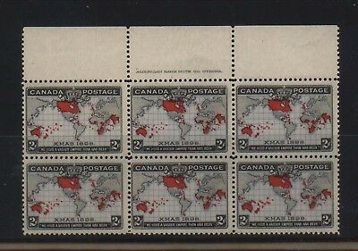 Canada #85 NH Mint Plate Block Of Six