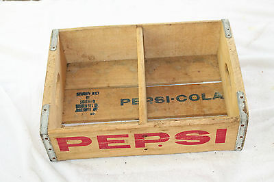 Pepsi Cola Bottle Crate Vintage Wooden Carrier Advertising