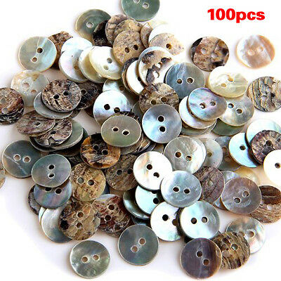 Lot de 100 Perles Bouton en Nacre Coquillage Rond 10mm WT