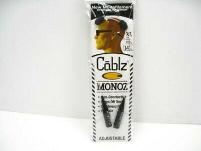 "CABLZ Sunglasses Glasses Holder MONOZ Adjust ZIPZ XL White 14"" Eyewear Retainer!"