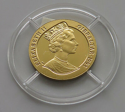 GIBRALTAR 70 ECUS 1993 GOLD PROOF     *pl 389