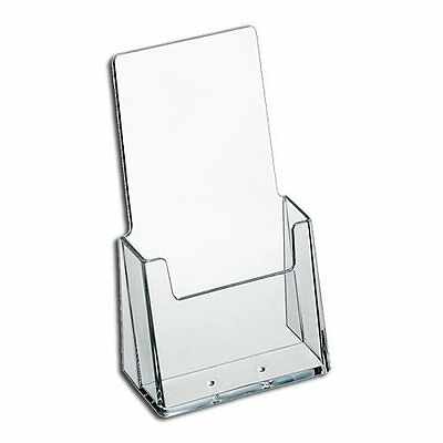 "AZM Brochure Holder Tri Fold Literature Display for 4x9"" Clear Acrylic FREE SHIP"
