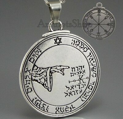 Pentacle Seal of the Moon Talisman Amulet Seal of King Solomon w/ chain