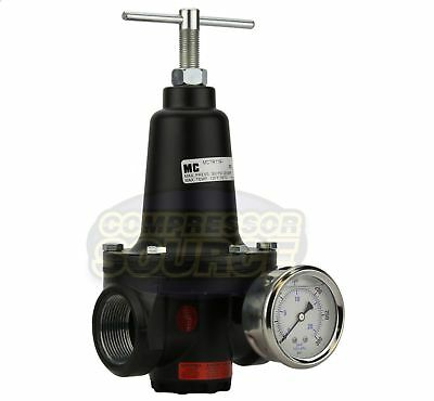 "New .75"" 3/4"" Inline Compressed Air Compressor Line High Flow Regulator Valve"