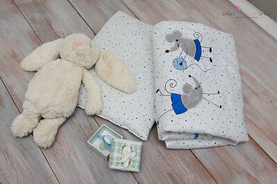 Baby Bedding Set Pillow And Quilt Duvet For Pram, Moses Basket,Crib,Embroidered