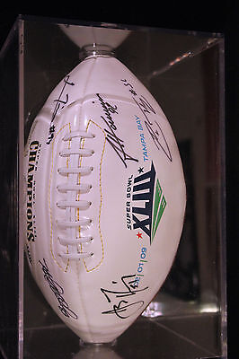 pittsburgh steelers superbowl xliii signed ball by 5 players miller, harrison