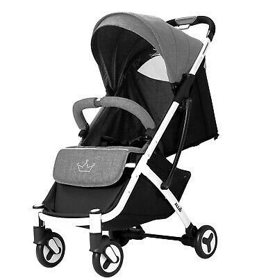 Allis Baby Lightweight Pushchair Travel Buggy Pram Stroller Plume - Grey