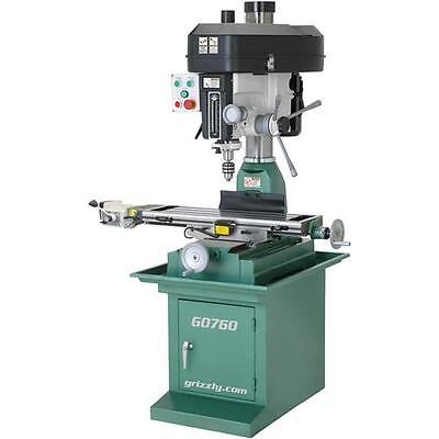 """G0760 Grizzly Mill Drill with Stand, 8"""" x 29"""" Table with Powerfeed"""