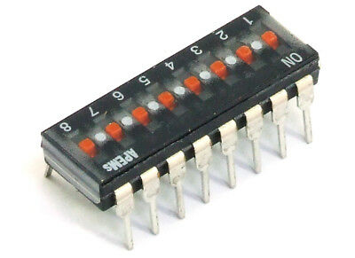 APEM DIP-Switch Slide 8-Positions / dip-Switch 25mA 24V PCB THT DIP-16 2.54mm