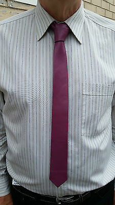 "New VIKTOR SABO Exclusive Canadian Handmade WHITE Lambskin Tie 1.5/""// 3.8 cm"
