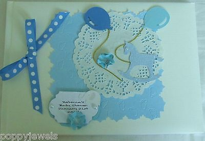 Handmade Personalised Baby Shower Party Guest Book Pick A Colour