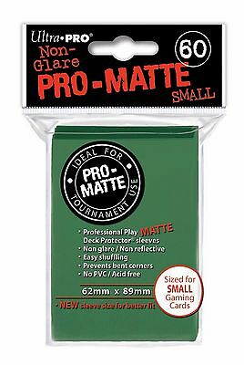 60 Bustine Protettive Ultra PRO Yu-Gi-Oh! PRO MATTE SMALL Green Verde Buste Deck