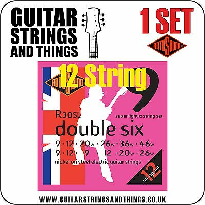 Rotosound R30SL 12 STRING Super Light 09-46 Electric Guitar Strings