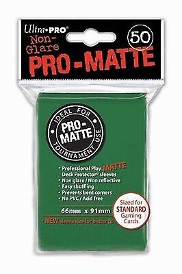 50 Bustine Protettive Ultra PRO Magic PRO MATTE Green Verde Sleeves Buste 66x91