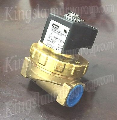 Parker Brass Water Valve 3/4 Inch 220V For Unimac Washers F381701 F8521801