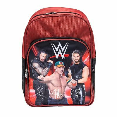 Wwe Superstars Roman Reigns John Cena And Seth Rollins Official Backpack Bag New