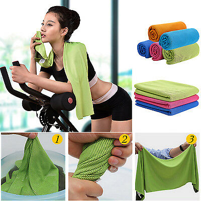 Cycling Golf Sports Ice Cold Enduring Run Gym Chilly Pad Instant Cooling Towel