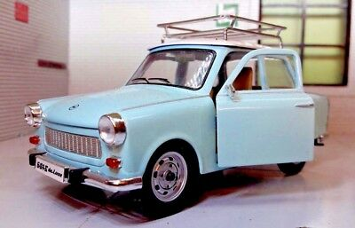 G LGB 1:24 Scale 1964 Trabant 601 Very Detailed Diecast Model Car & Roofrack