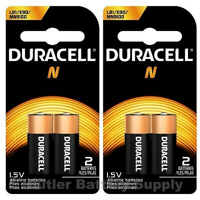 4 x N Duracell 1.5V Alkaline Batteries ( Medical, LR1, E90, MN9100 )