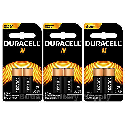 6 x N Duracell 1.5V Alkaline Batteries ( Medical, LR1, E90, MN9100 )