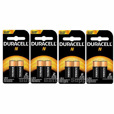 8 x N Duracell 1.5V Alkaline Batteries ( Medical, LR1, E90, MN9100 )