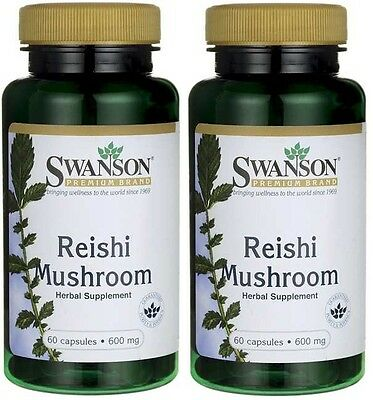 2X Reishi Mushroom 600 mg x 60 (120) Capsules ** AMAZING PRICE ** 24HR DISPATCH