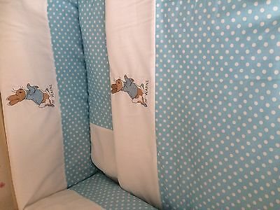Beautiful peter rabbit  crib cot cotbed bumper set