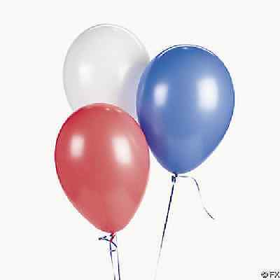 Patriotic Red White Blue Latex Balloons 36 Piece 4th of July Decoration