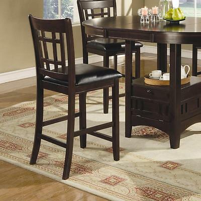 Lavon Cappuccino Finish Counter Height Dining Chair By Coaster 102889 - Set of 2