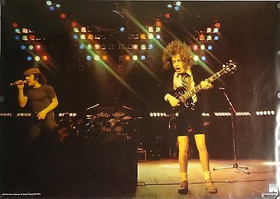 AC/DC 24x34 Angus Young Brian Johnson Music Poster